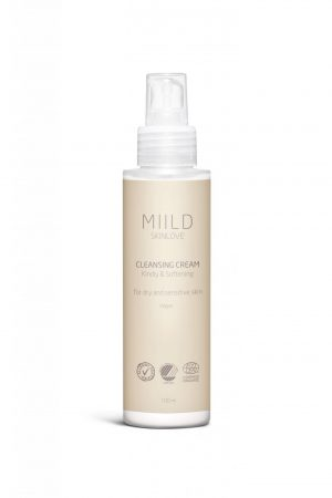 Miild Cleansing Cream is made from nurturing and mild ingredients that leave the skin cleansed without feeling drying out.