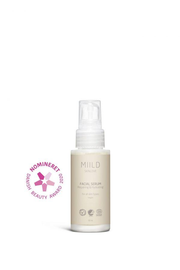 Miilds Facial Serum bevarer blødhed og smidighed i huden